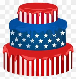 Art Images Red White Blue Scrap Clip Art Usa Cake Usa Cake Clipart Png Transparent Png Usa Cake Cake Clipart 4th Of July Clipart
