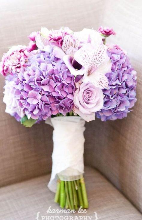 Свадебный букет с гортензией, цветов дом