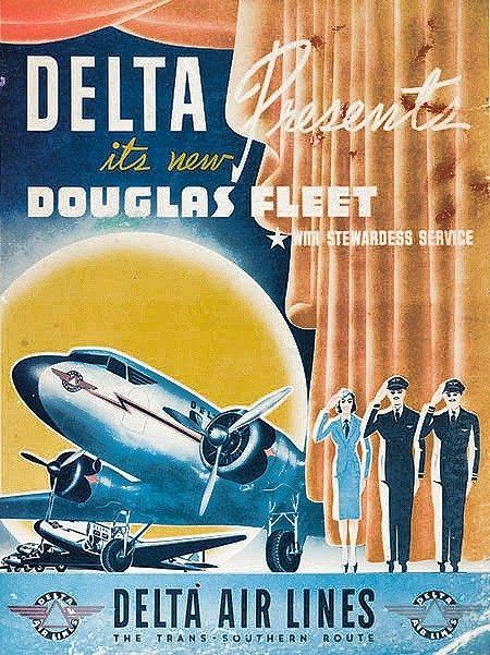 delta air lines vintage airline ads