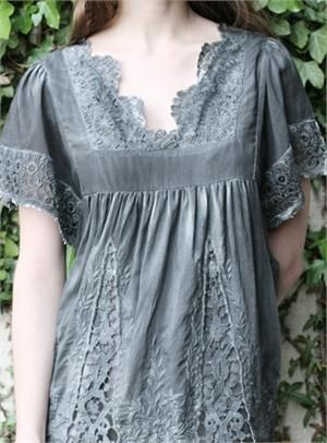 Insert lace into plain tops