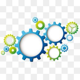 Blue Gear Green Gear Science And Technology Environmental Protection Mechanical Blue Gear Green Science Tech Graphic Design Background Templates Clip Art Gears