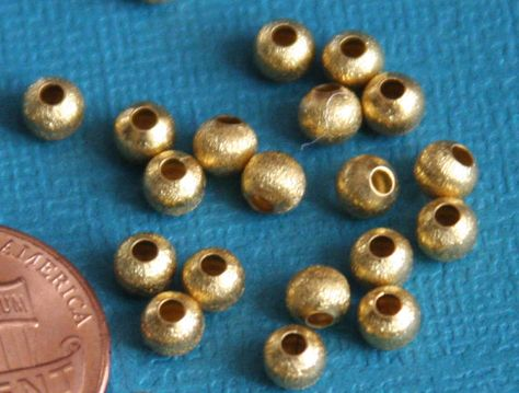Indian Jewelry Supplies 5MM Big Hole 100pcs Solid Metal Beads Faceted Silver Spacer Beads
