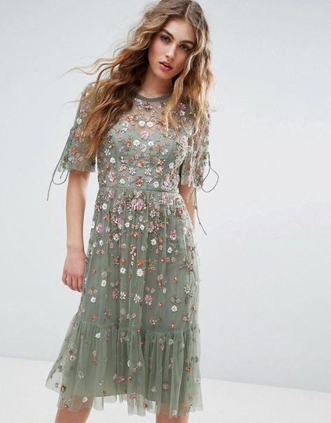 New Needle /& Thread BHLDN Edie Floral Beaded MiniDress Sz 6 12