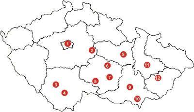 Pamatky Unesco Cr Mapa In 2020 With Images Mapa