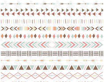 Aztec Borders Tribal Borders Clipart Aztec Etsy Clip Art Borders Clip Art Etsy Banner