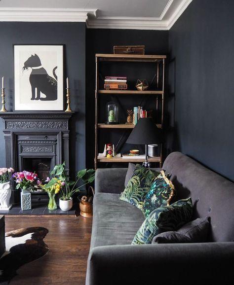 Living Room Dark Colour Palette Dark Living Rooms Apartment