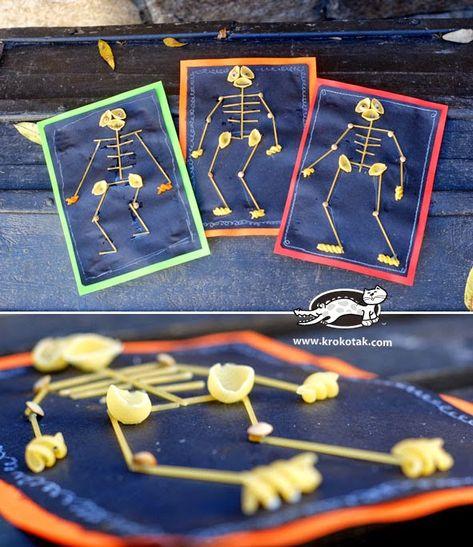 Makarna Ile Iskelet Sistemi Yapimi Iskelet Makarna 4 Sinif Fen