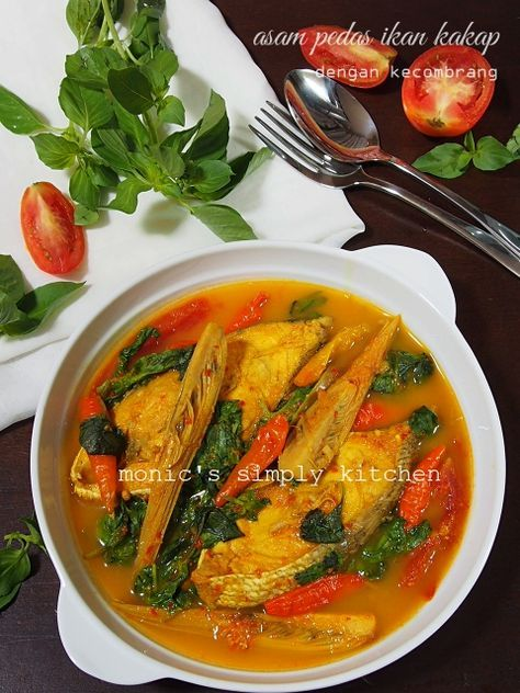 Asam Pedas Ikan Kakap Honje Resep Masakan Resep Makanan Masakan Indonesia