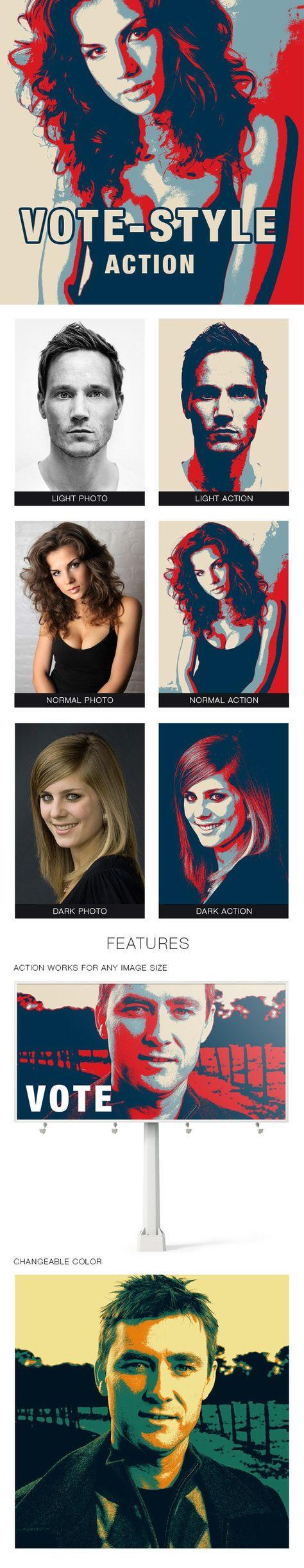 Vote-style Photoshop Action