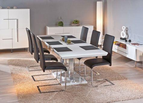 Hoogglans Eetkamer Set.Inter Link Sas Edmonton Eettafel Uitschuifbaar Witte Eettafel