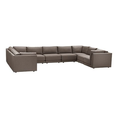 Moda 9 Piece Sectional Sofa By Crate