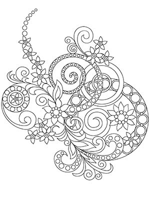 Coloring Book For Adults Amazing Swirls Happy Coloring Books Designs Coloring Books Abstract Coloring Pages Mandala Coloring Pages