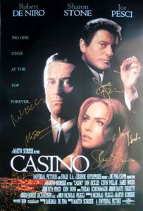 CASINO original 27x40 movie poster cast signed by Robert DeNiro,