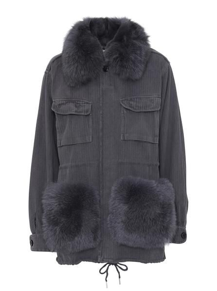 lempelius Black Down Parka with rabbit fur | Jacka