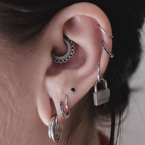 Image result for Daith jewelry - temple adornments - #adornments #daith #image #Jewelry #result #temple