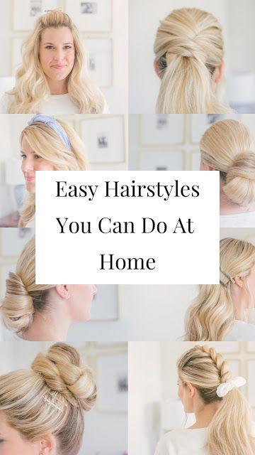 Easy Hairstyles You Can Do At Home Easy Hairstyles Thick Hair Styles Diy Hairstyles Easy
