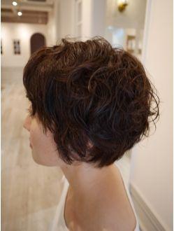 ショートスタイル 低温デジタルパーマ パーマ ショートボブ 髪型