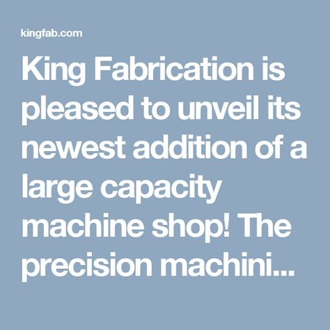 A spreadsheet oulining the precision machining  prefabricated
