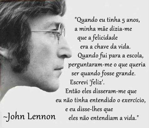 Blog de Santo Afonso: John Lennon: não entender a vida
