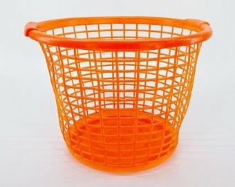 Pin By J E Hart On Vintage Orange Glass Restaurant Vintage Baskets Laundry Basket