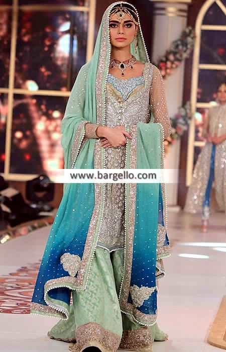 Striking Bridal Sharara Dress for Reception and Special Occasions Zainab Chottani Bridal Wedding Sharara Dresses Sunnyvale California CA USA