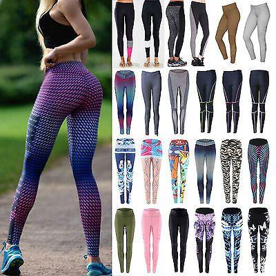 Ffox Womens Stretch Sports Yoga Compression Dry Running T-Shirts+Pants Set