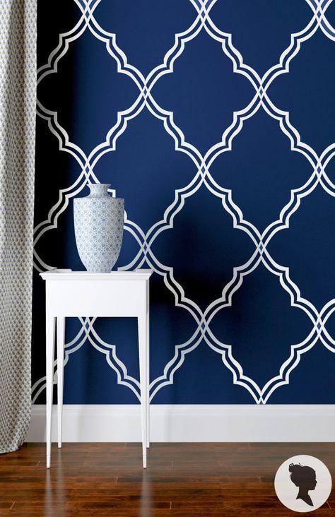 Self Adhesive Moroccan Pattern Removable Wallpaper Z029