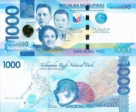 Philippines 1000 Pesos 2017 With Images Philippine Peso Money