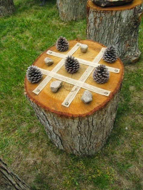 Baumstumpf Tic Tac Toe DIY Naturspielplätze – … - natural playground - Baumstumpf Tic Tac Toe Estás en el lugar correcto para diy desk Aquí presentamos diy cuadernos que - Backyard Playground, Backyard Games, Playground Ideas, Children Playground, Modern Playground, Preschool Playground, Backyard Kids, Outdoor Games, Natural Outdoor Playground