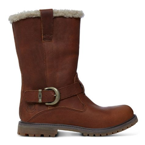 Dames Timberland 6 Premium bruinen Waxed Canvas Laarzen