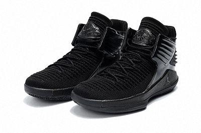 buy online 9b67f 2cc5d Air Jordan 32 XXX2 Big Boys Youth All Black Basketball Shoes ...