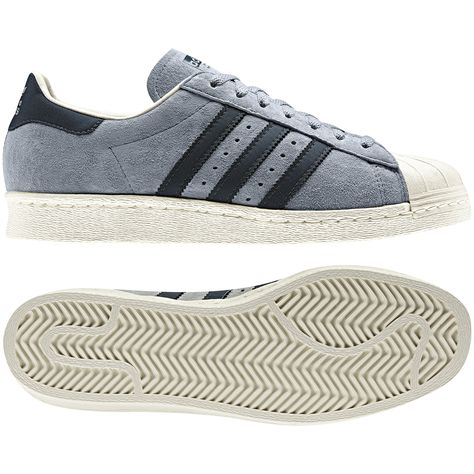 low priced 3857c 3d9ed adidas Männer Superstar 80s Schuh - grau wildleder ...