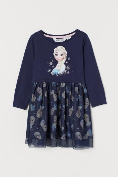 Disney Frozen Elsa Satin and Shimmery Tulle Fancy Nightgown