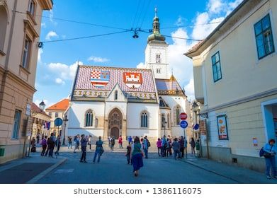 Zagreb Croatia May 1 2019 St Mark S Church In Zagreb Architecture Balkans Bell Blue Building Capital Cathedral In 2020 Zagreb Croatia Zagreb Croatia
