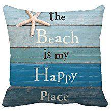 Coastal Throw Pillows Beach Nautical