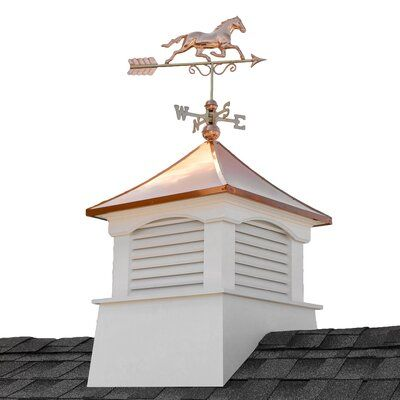 Good Directions Coventry Vinyl Cupola With Horse Weathervane Wayfair In 2020 Cupolas Copper Roof Architectural Elements