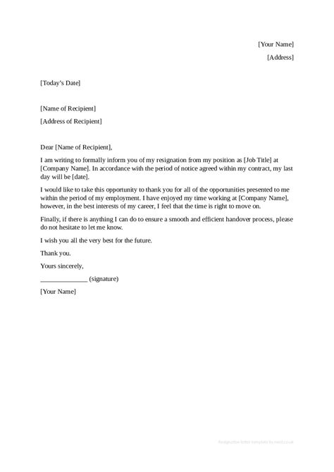 resignation letter sample format template Home Design Idea - handover note