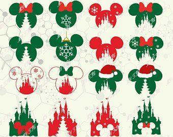 Disney Christmas Svg Etsy Manualidades Navidenas Manualidades Navidad De Mickey Mouse