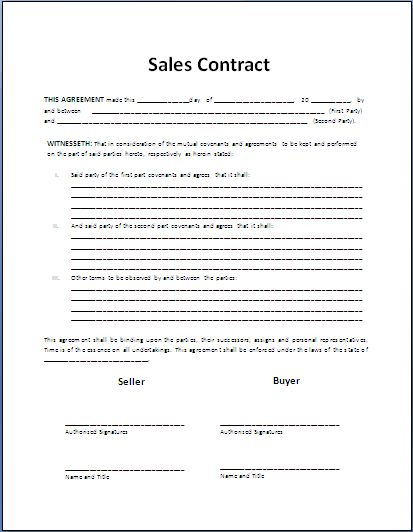 Formal Car Purchase Contract Template Free My board Pinterest - vendor confidentiality agreement
