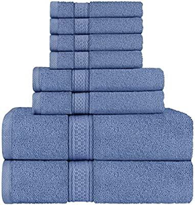 Amazon Com Utopia Towels Towel Set 2 Bath Towels 2 Hand Towels And 4 Washcloths 600 Gsm 100 Premium Ring Spun In 2020 Towel Set Large Bath Towel Washing Clothes