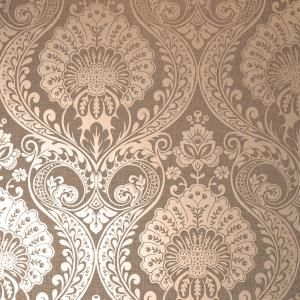 Arthouse Luxe Damask Chocolate Vinyl Strippable Roll Covers 56 Sq Ft 906605 The Home Depot Gold Damask Wallpaper Rose Gold Wallpaper Damask Wallpaper