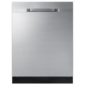 Samsung 24 In Top Control Stormwash Tall Tub Dishwasher In Fingerprint Resistant Stainless Steel With Autorelease Dry 48 Dba Dw80r5060us The Home Depot Steel Tub Buying Appliances Dishwasher Sizes