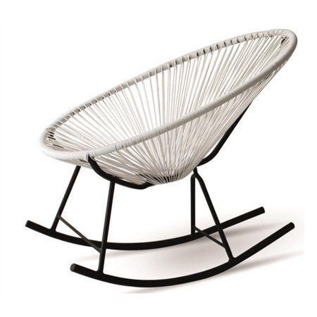 Design Tree Home Acapulco Indoor Outdoor Rocking Chair Black Walmart Com Lounge Chair Outdoor Outdoor Rocking Chairs Rocking Chair