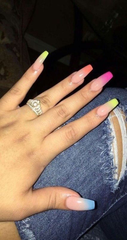 Nails Acrylic Medium Length Summer 42 Best Ideas Pretty Acrylic Nails Nail Designs Cute Acrylic Nails
