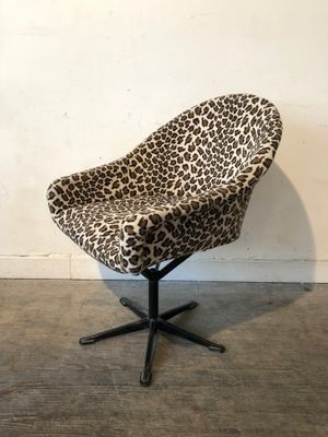 Leopard Print Desk Chair 1960s For Sale At Pamono Chair Desk