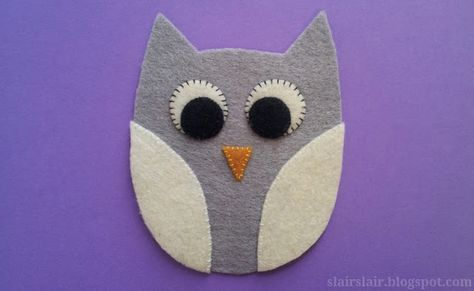 Felt or applique owl pattern