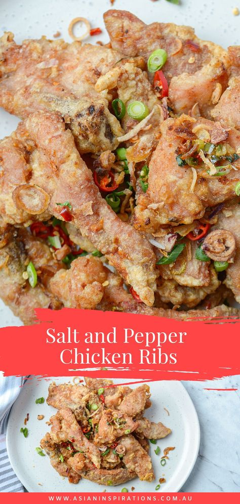 An all-time-favourite Chinese flavour, salt and pepper chicken ribs is one of the best dishes you can add to your table. #saltandpepperchickenribs #saltandpepperchicken #chinesesaltandpepperchicken #chicken #chinesetakeaway #chinesefood #chineserecipes #asianchickenfried