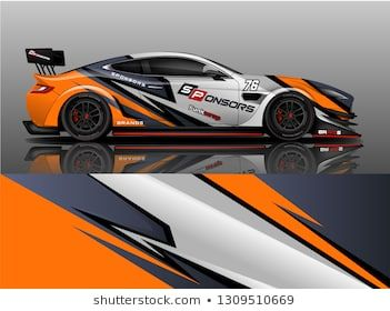 Racing Car Decal Wrap Vector Designs Truck And Cargo Van Decal Company Rally Drift Graphic Abstract Strip Race Cars Car Sticker Design Racing Car Design