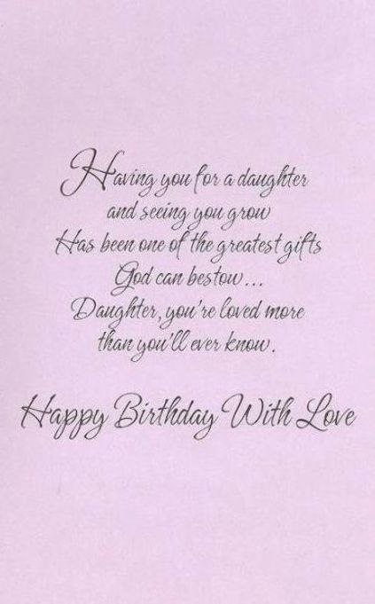 Best Birthday Happy Daughter From Mom Christian Ideas Birthday Birthday Wishes For Daughter Happy Birthday Daughter Birthday Quotes For Daughter