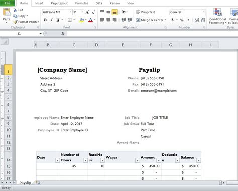 Debit Note Excel Template Format Company Templates Pinterest - free payslip templates